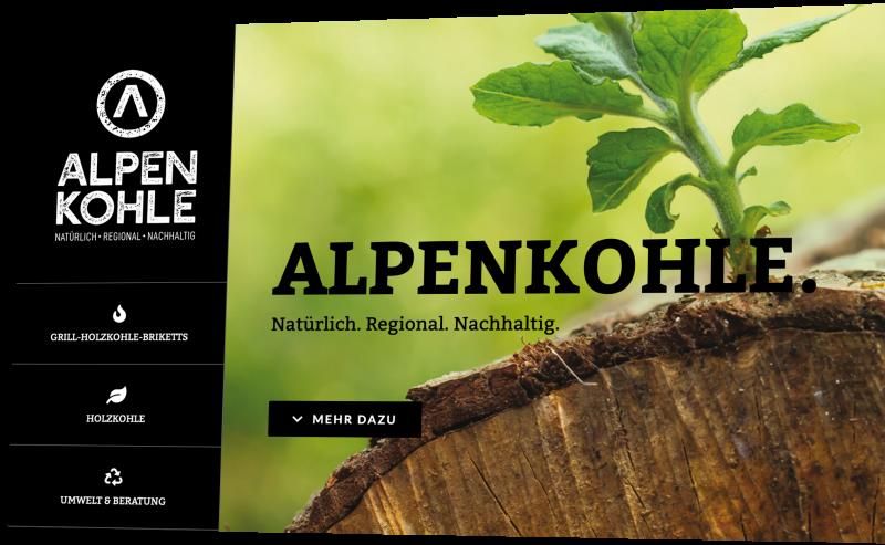 Alpenkohle Wordpress Webseite